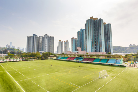 sham: The Shek Kip Mei Park Soccer Field  The Shek Kip Mei Park is one of the largest parks with a total area of about 8 hectares in Sham Shui Po District