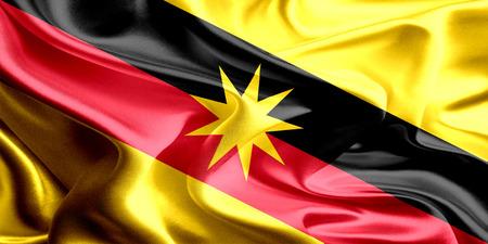 Flaga Sarawak, Malezja Zdjęcie Seryjne