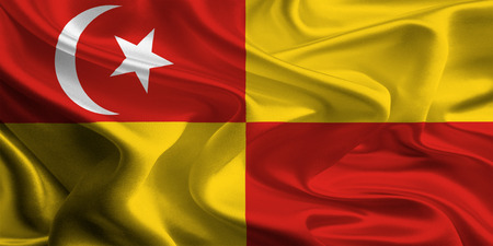 Vlag van Selangor, Maleisië Stockfoto