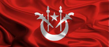 kelantan: Flag of Kelantan, Malaysia