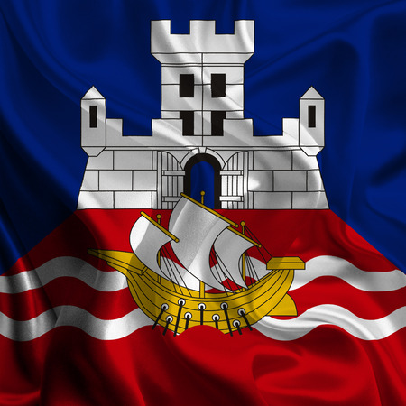 Flag of Belgrade, Serbia photo