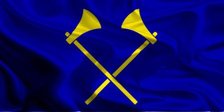 Flag of Saint Helier, Jersey, Channel Islands photo