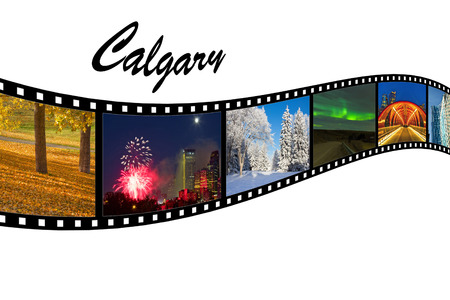 Calgary Travel Photos Film Strip