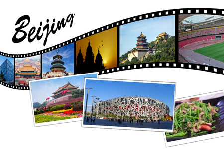 Travel Photo Film Strip of Beijing, China