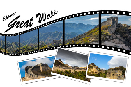 Travel Photo Film Strip of Great Wall of China photo