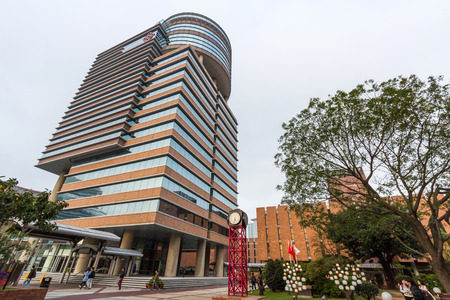 Li Ka Shing Tower of Hong Kong Polytechnic University  PolyU  in Hung Hom, Hong Kong  It is the largest government-funded tertiary institution in Hong Kong
