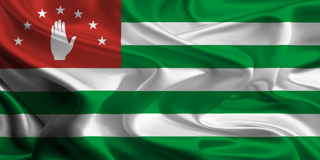 abkhazia: Flag of Abkhazia, Georgia