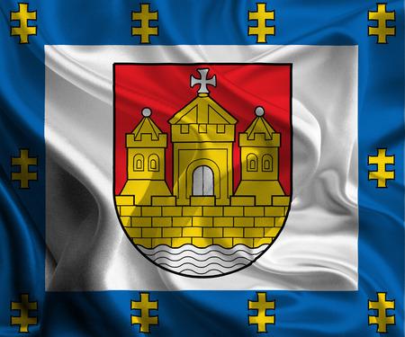 chant: Flag of Klaipeda County, Lithuania