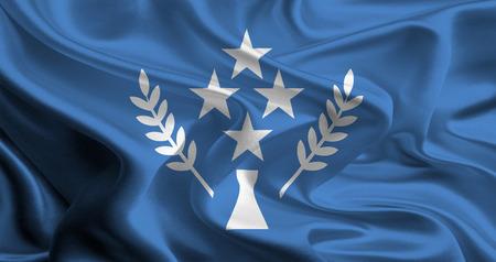 micronesia: 코스 레 주, 미크로네시아의 국기 스톡 사진