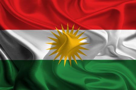 Flag of Kurdistan, Iraq Stock Photo