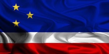 Flag of Gagauzia, Moldova Stock Photo