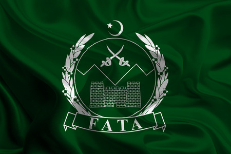 administered: Flag of Federally Administered Tribal Areas, Pakistan Stock Photo