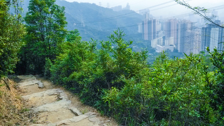 Famous MacLehose Trail Section 6 in Hong Kong, China Stock Photo - 28013173