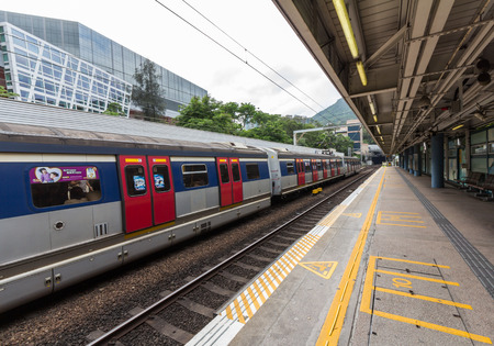tong: A train in Kowloon Tong Station in Hong Kong  Over 90  daily travelers use public transport  Its the highest rank in the world