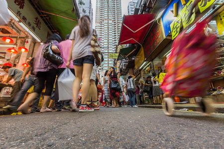 A local market in Wanchai in Hong Kong  Hong Kong has plenty of atmospheric street markets and shopping streets
