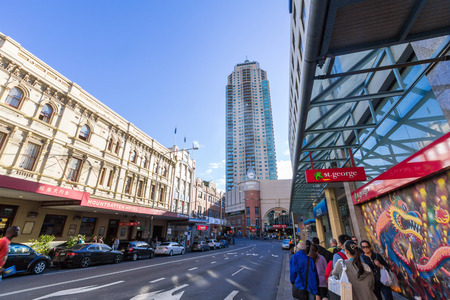 ruch: China Town in Sydney is an urban locality in the southern part of the Sydney central business district  It is located in Haymarket   Editorial
