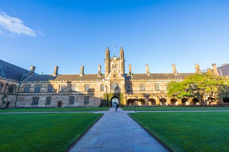 시드니 대학의 역사적인 상한의 건물, 호주 다섯 노벨상 또는 Crafoord 수상자는 졸업생 및 교직원 등 대학과 제휴 한