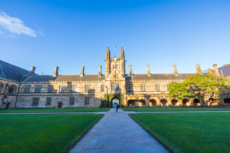 universities: Historic Quadrant Building at Sydney University, Australia  Five Nobel or Crafoord laureates have been affiliated with the university as graduates and faculty  Editorial