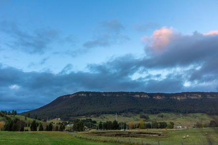kiama: Sunset at blue mountains national park, New south wales, Australia