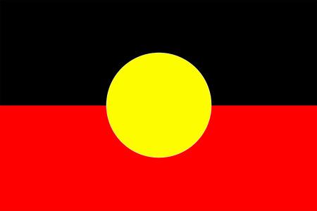 aborigen: Flag aborigen australiano