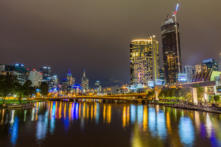 Melbourne Night Skyline