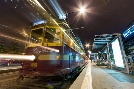 The City Circle  route 35  is a zero-fare tram running around the central business district of Melbourne, Australia   Editorial