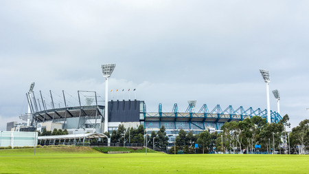 afl: The Melbourne Cricket Ground in Victoria, Australia  The MCG is the largest sports stadium in Australia  Editorial