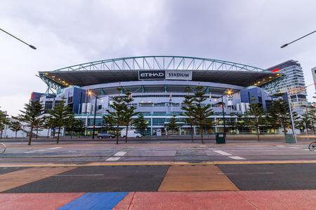 Docklands Etihad Stadium is a multi-purpose sports and entertainment stadium in the Docklands precinct of Melbourne, Victoria, Australia  Editorial