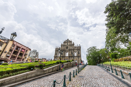 st paul s cathedral: Ruins of St  Paul s Cathedral in Macau