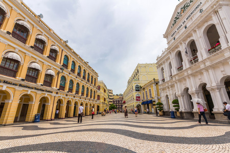 Historic Centre of Macao-Senado Square in Macau, China  The Historic Centre of Macao was inscribed on the UNESCO World Heritage List in 2005   Editorial