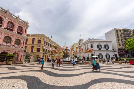 Historic Centre of Macao-Senado Square in Macau, China  The Historic Centre of Macao was inscribed on the UNESCO World Heritage List in 2005   Editorial