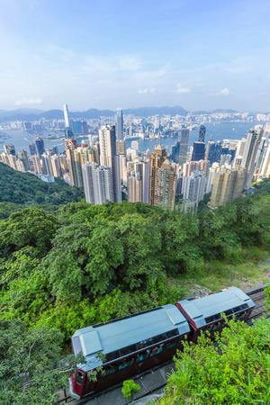 홍콩 피크 트램 스톡 콘텐츠