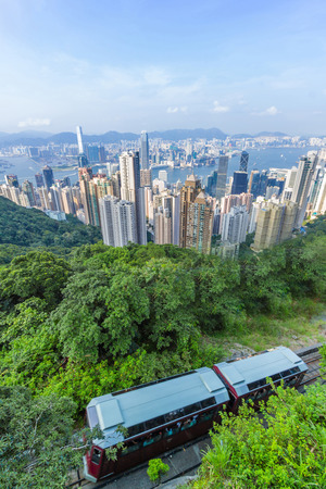 peak tram in Hong Kong Stock Photo