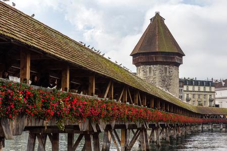 Chapel bridge in Lucerne, Switzerland