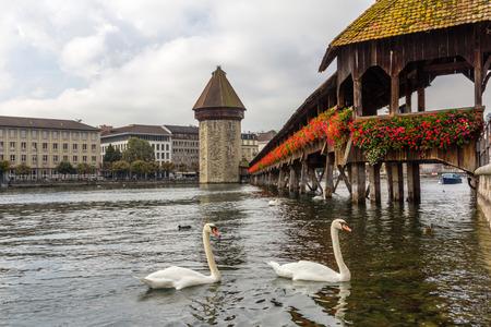Chapel bridge in Lucerne, Switzerland photo
