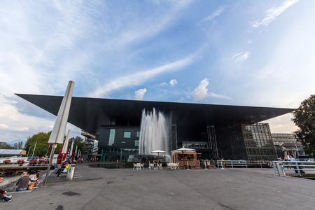 The Culture and Congress Centre in Lucerne (KKL Luzern) is a multi-functional building with a concert hall