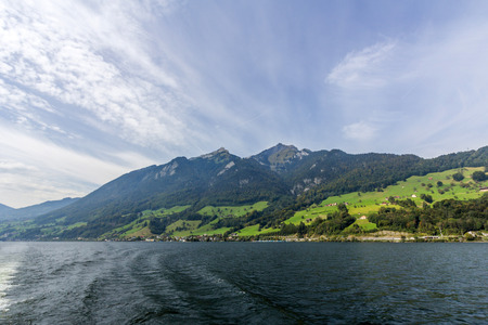 Lake Lucerne and Swiss Alps photo