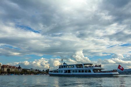 A Ferry in Zurich Lake