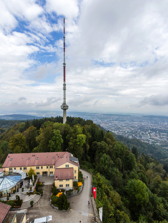 uto: UTO KULM and Uetliberg TV-tower. The tower is used for radio and TV transmission. It is owned by Swisscom and generally not accessible by the public. Editorial