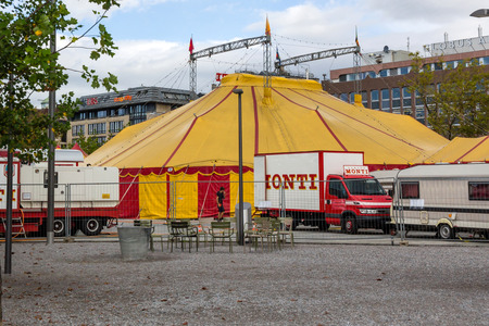 accommodate: The Circus Monti is a Swiss circus owned by the Muntwyler family. The Monti Circus tent can accommodate around 800 spectators. Editorial