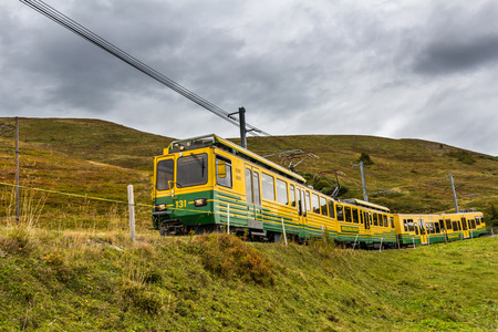 eiger: Jungfrau Railway in Switzerland Editorial