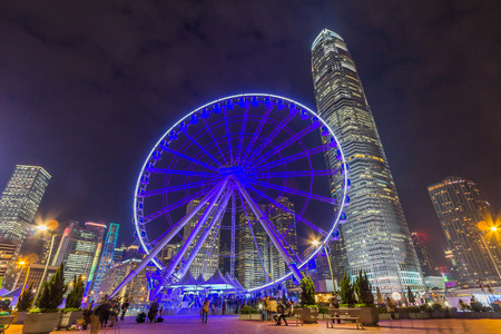 Hong Kong Observation Wheel in Central District, Hong Kong
