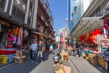 Chinese shopping streets around Yuyuan Market in Shanghai, China. It\\\\