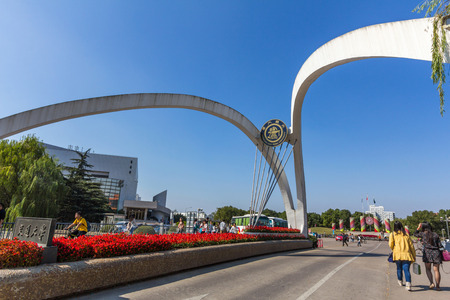 renowned: Entrance of the Shanghai Jiao Tong University (SJTU). SJTU is renowned as one of the oldest and most prestigious and selective universities in China. Editorial