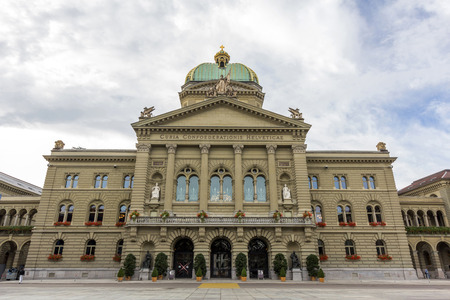 democracies: The Swiss government building Bundeshaus or Federal Palace of Switzerland, headquarter one of the oldest democracies in the world, Berne, capital city of Switzerland.