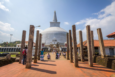 anuradhapura: The Ruwanwelisaya is a stupa in Sri Lanka, considered a marvel for its architectural qualities and sacred to many Buddhists all over the world. Editorial