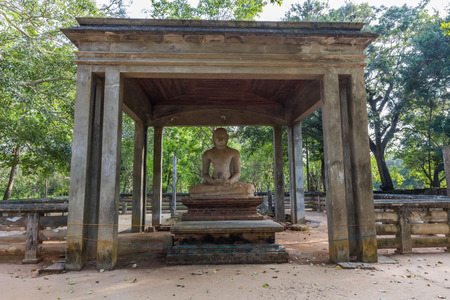 samadhi: The sacred Samadhi Buddha statue in AnuradhapuraSri Lanka. The statue and the temple