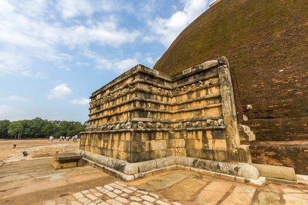 anuradhapura: Wahalkada of Abhayagiri Stupa in Anuradhapura, Sri Lanka