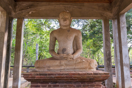 samadhi: The sacred Samadhi Buddha statue in AnuradhapuraSri Lanka.