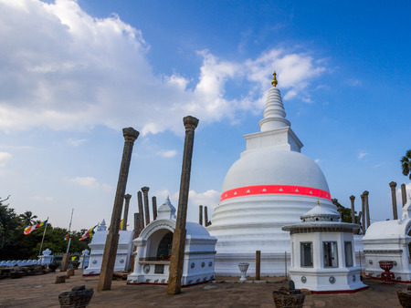 veneration: Thuparamaya is a dagoba in Anuradhapura, Sri Lanka. It is a Buddhist sacred place of veneration. Stock Photo